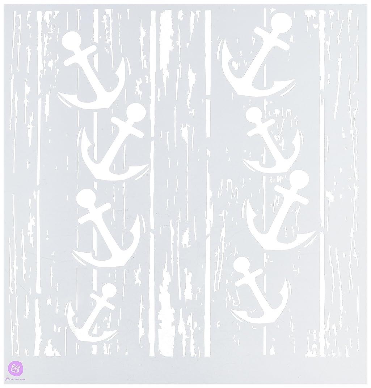 Prima Marketing 572204 Designer Stencil, 12 by 12-Inch, Anchors