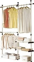 PRINCE HANGER, Double 2 Tier Hanger & Shelves, Clothing Rack, Closet Organizer, Heavy Duty, PHUS-0053