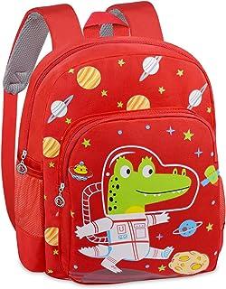 Mochila infantil para guardería, mochila preescolar, mochila de dibujos animados, mochila de dinosaurios, mochila para bebé, niña, niño, 2-5 años, color rojo
