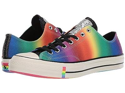 Converse Chuck 70 Ox Pride (Black/Egret/Multi) Athletic Shoes