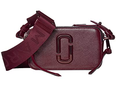 Marc Jacobs The Snapshot Monochrome Crossbody (Wine) Handbags