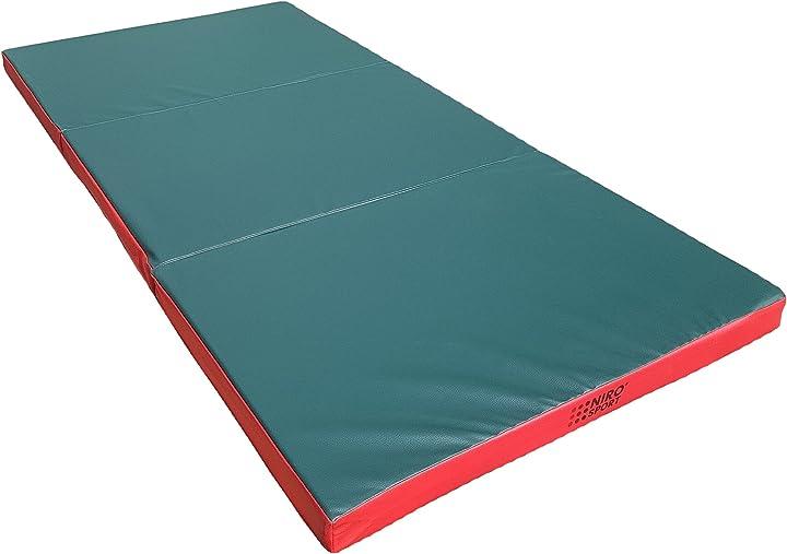 Materassino allenamento di caduta 210 x 100 x 8 cm pieghevole tappetino da allenamento nirosport MK18-210-100-8