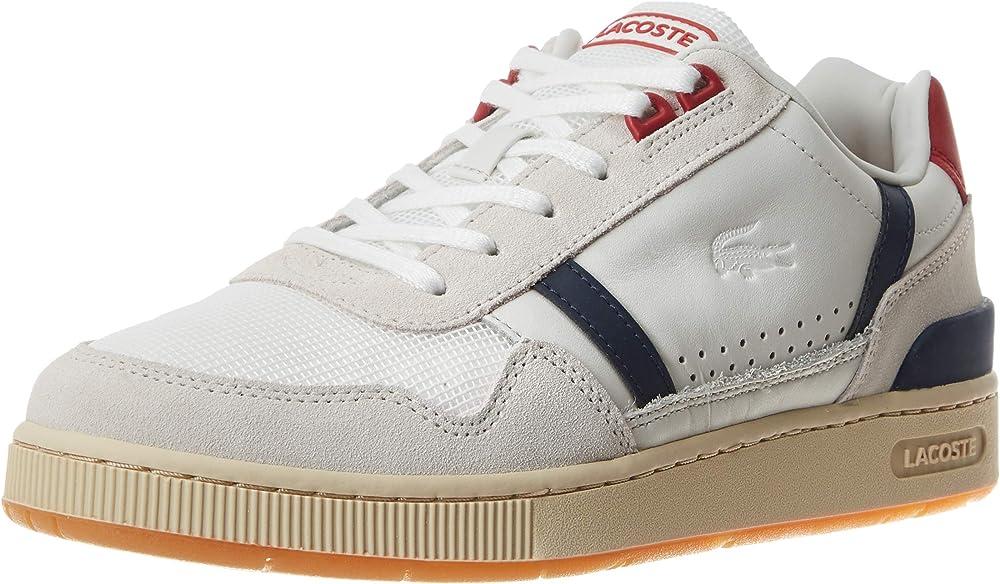 Lacoste t-clip 120 2 us sma, sneakers,scarpe sportive per uomo,in pelle 39SMA0057 1