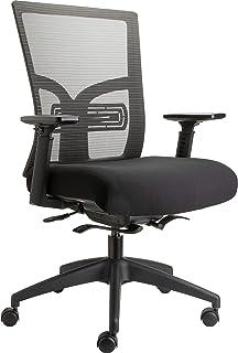 Lorell 62617 中背办公椅,黑色