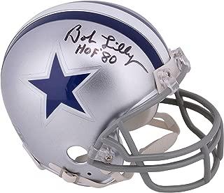 bob lilly autographed helmet