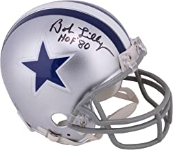 bob lilly autographed mini helmet