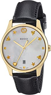 0607819e108 Gucci G-timeless Mother of Pearl Dial Mens Leather Watch YA1264044