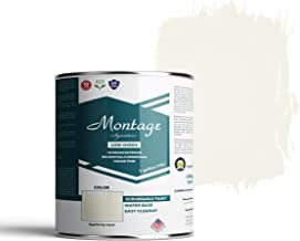 Montage Signature Interior/Exterior Eco-Friendly Paint, Swiss Coffee - Low Sheen, 1 Gallon