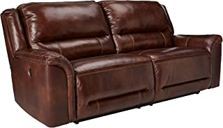 Ashley Furniture Signature Design - Jayron 2 Seat Recliner Sofa - 1 Touch Powered Reclining - Contemporary - Harness Brown