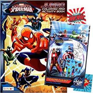 Spiderman Colouring Book with Fun Set (Colouring Book & Crayons, Stickers)