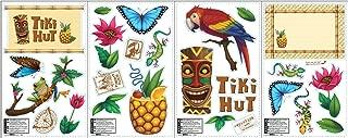 BirthdayExpress Tiki Hut Jungle Party Supplies - Removable Vinyl Wall Decal Decorations