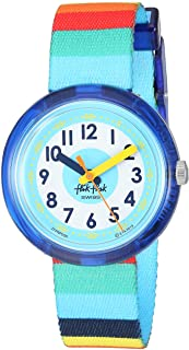 Kids' Mystical Woods Quartz Polyester Strap, Blue, 14 Casual Watch (Model: ZFPNP056)