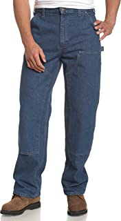 Men's Logger Washed Denim Dungaree Pant