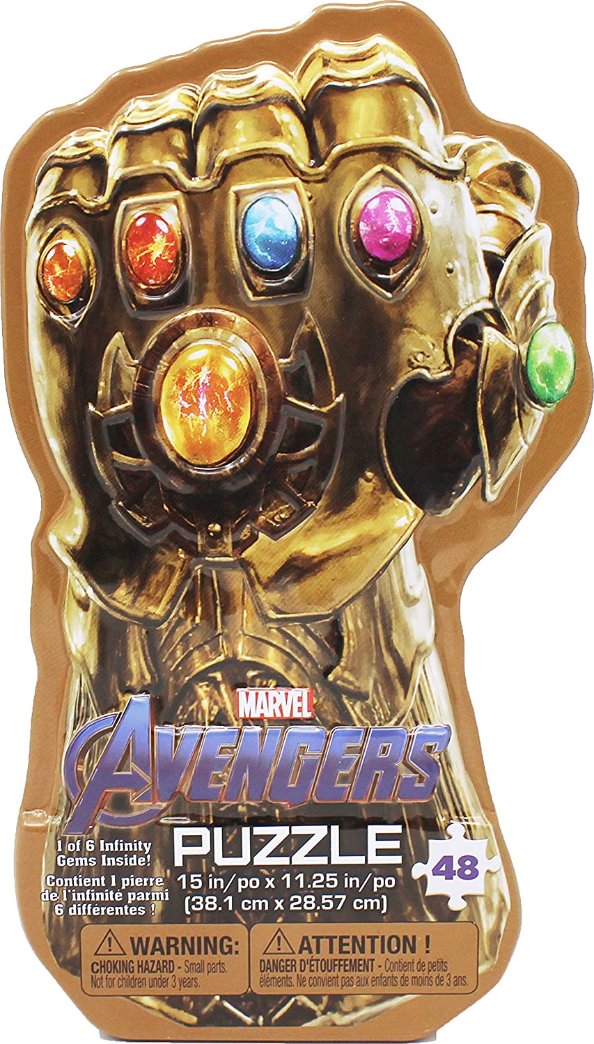 Amazon Com Marvel S Avengers Infinity War Gauntlet Tin With Surprise Puzzle And Infinity Gem Toys Games