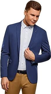 oodji Ultra Men's Slim-Fit Single-Button Blazer