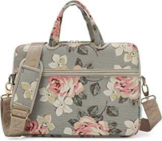 kayond White Rose Patten Waterproof Laptop Shoulder Messenger Bag Case Sleeve for 15 Inch 15.6 Inch Laptop,Laptop Briefcase