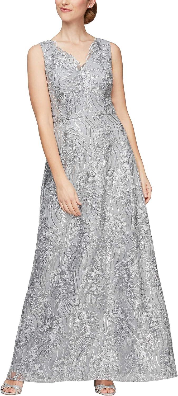 Alex Evenings Women's Long Max 64% OFF Omaha Mall Shawl with Sleeveless Dress