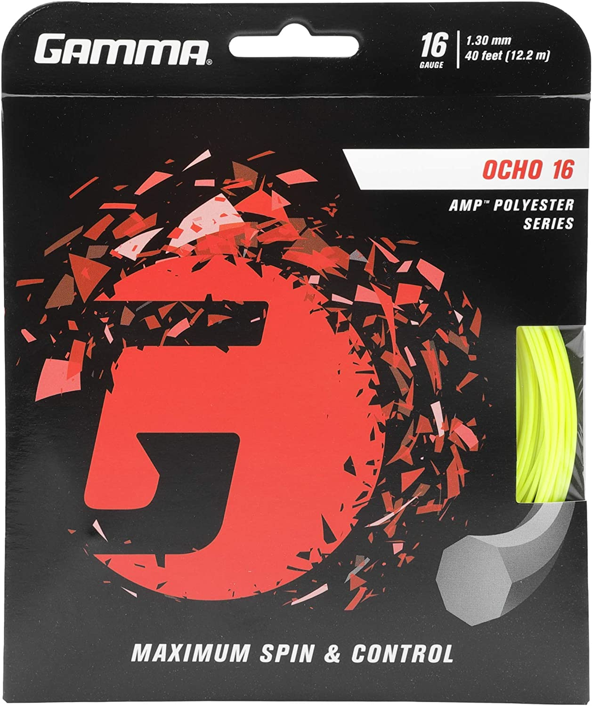 Gamma Sports AMP OCHO Tennis Polyester price Series- Oct Racket Chicago Mall String