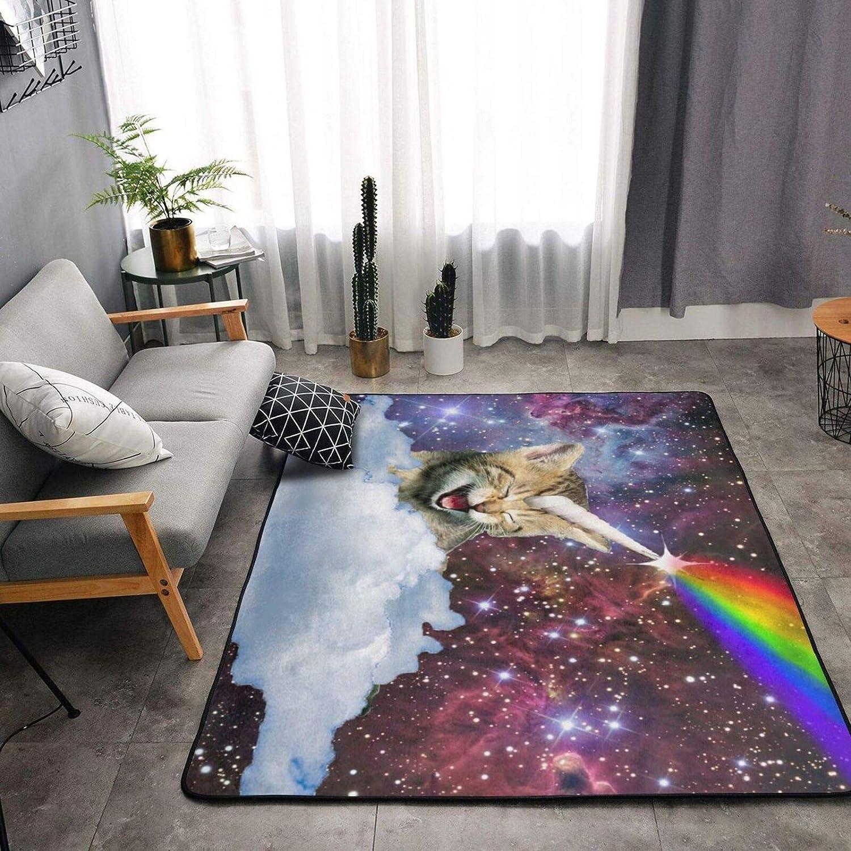 Space Unicorn Cat Soft Area Rugs Atlanta cheap Mall Washable Ca for Fluffy Bedroom