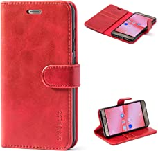 Mulbess Asus ZenFone 3 ZE552KL Protective Cover, Magnetic Closure RFID Blocking Luxury Flip Folio Leather Wallet Phone Case with Card Slots and Kickstand for ZenFone 3, Wine Red