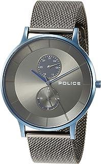 [ポリス]POLICE 腕時計 BERKELEY クォーツ ステンレススチール メッシュベルト マルチファンクション ブラック文字盤 メンズ PL.15402JSBL/61UMM メンズ 【正規輸入品】