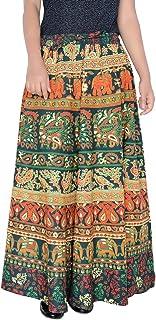 Sttoffa 36 Inch Length Elastic Band Rajasthani Skirt D2