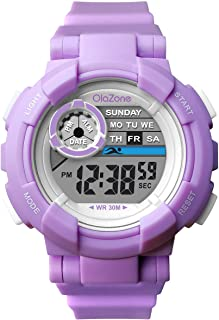 ساعة فتيات رياضية رقمية للأطفال من عمر 7 ألوان وامضة مضادة للماء 100 متر هدية إنذار للبنات لعمر 7-10 487