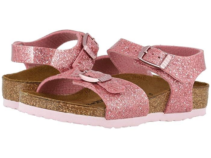 Birkenstock Kids  Rio (Toddler/Little Kid/Big Kid) (Cosmic Sparkle Old Rose Birko-Flortm) Girls Shoes