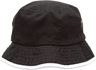 8a56c034 MIRMARU Summer Adventure Foldable 100% Cotton Stone-Washed Bucket Hat with  Trim.