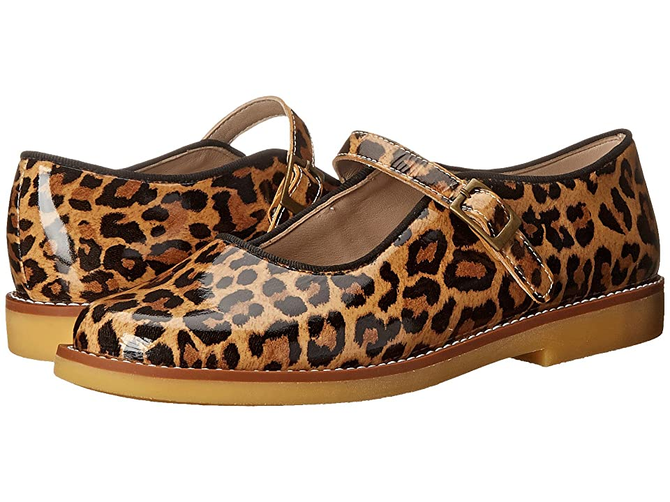 Elephantito Mary Jane w/ Buckle (Toddler/Little Kid/Big Kid) (Patent Leopard) Girls Shoes