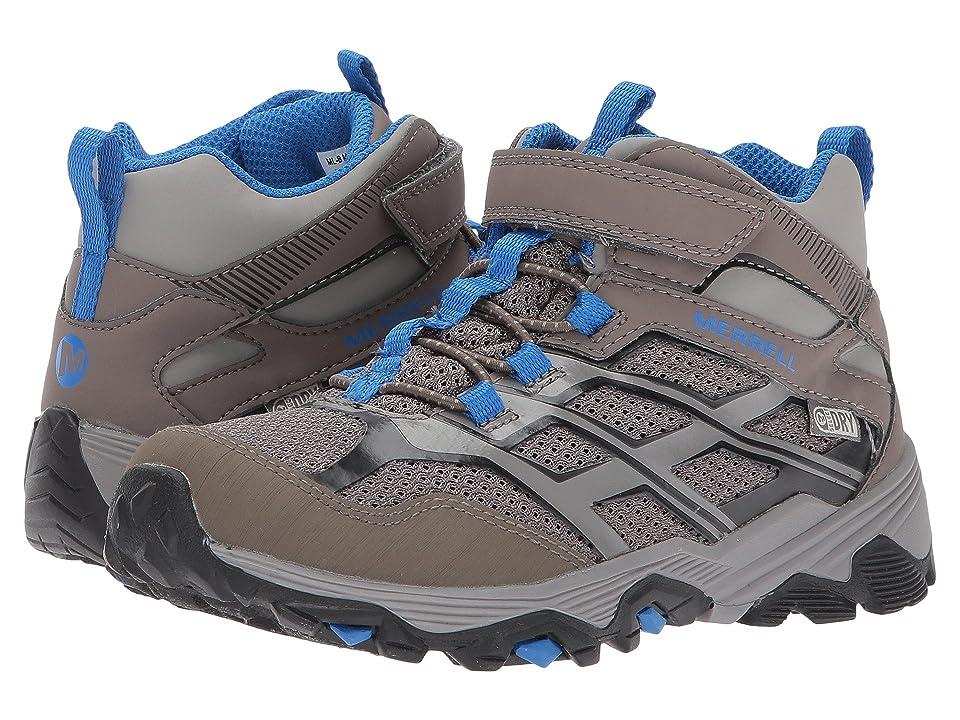 Merrell Kids Moab FST Mid A/C Waterproof (Little Kid) (Gunsmoke) Boys Shoes