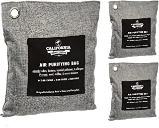 Activated Charcoal Odor Absorber Bags (3-Pack), Bamboo Charcoal Room Deodorizer, Natural Odor Eliminator, Car Odor Absorbing Bags, Charcoal Bamboo Air Purifying Bag, All-Natural Moisture Absorber Bags
