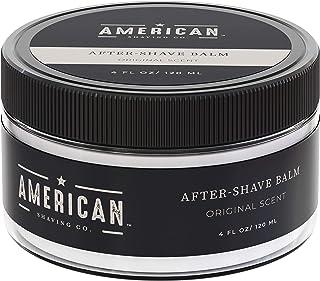 American Shaving After Shave Balm For Men (4oz) - Original Masculine Scent - 100% Natural Moisturizing Aftershave Lotion - Best Aftershave For Men to Soothe Dry Sensitive Skin Post Shave