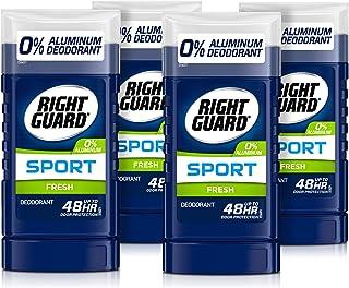 دئودورانت بدون محافظ آلومینیوم Right Guard Sport جامد استیک نامرئی ، تازه ، 3 اونس (بسته 4)