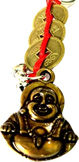 SSDG Chrismas Special Fengshui Red Chinese Knot 3 Coins with Laughing Budha Key Ring/Key Chain/Tassel Bring The 3 Heavenly Blessings to Your Home.