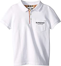 32f6b6cb2 Burberry kids short sleeve polo shirt with check collar infant ...