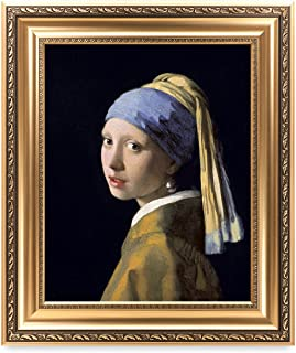 DECORARTS - Girl with A Pearl Earring by Johannes Vermeer. The World Classic Art Reproductions. Giclee Print with Matching Museum Frame, 16x20, Finished Size: 22x26