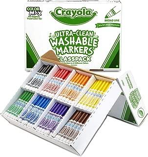 Crayola Bulk Broad Line Washable Markers, School Supplies Classpack, 200 Count