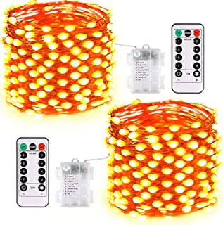 JMEXSUSS Fairy Lights Battery Operated with Remote, 2 Pack 150 LED Super Bright Oversize String Lights Indoor, 8 Modes War...