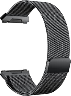 """Ionic Watch Strap, Yoking Magnetic Milanese Loop Stainless Steel Watch Band with Built-in Quick Release Adapter for Fitbit Ionic Sport Watch Small(5.5""""-8.6"""")/Large(6.1""""-10.1"""") Size"""