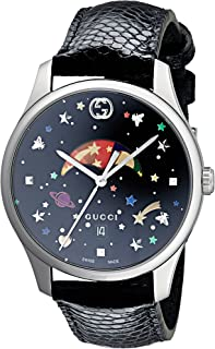 17e42368d12 Gucci G-Timeless Black with Stars   Planet Moonphase Dial Ladies Watch  YA1264045