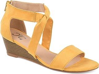 0388c51e4e53 Amazon.com  Yellow - Platforms   Wedges   Sandals  Clothing