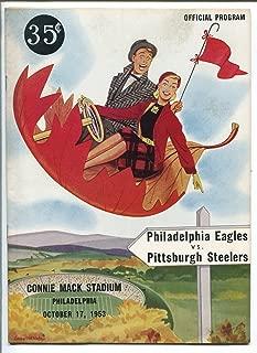 PHILADELPHIA EAGLES VS PITTSBURGH STEELERS NFL FOOTBALL PROGRAM 10/17/53-vf