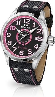 TW Steel Volante Stainless Steel Quartz Watch with Nylon Strap, Black, 22 (Model: TW973)