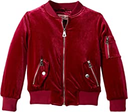 Natalie Stretch Velvet Poly-Filled Bomber (Little Kids/Big Kids)