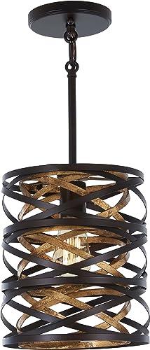 popular Minka Lavery Unique 2021 Pendant Ceiling Lighting online sale 4670-111 Vortic Flow, 1-Light 60 Watts, Dark Bronze outlet online sale