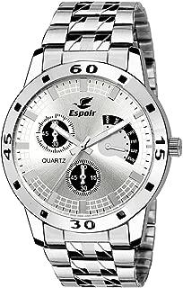 Espoir Analog White Dial Men's Watch - ES 109