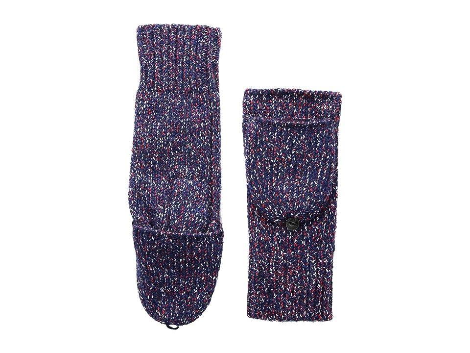 rag & bone Cheryl Mitten (Navy/Red) Extreme Cold Weather Gloves