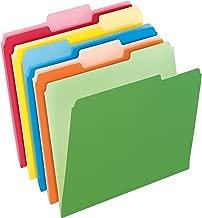 Pendaflex Two-Tone Color File Folders, Letter Size, Assorted Colors, 1/3 Cut, 100 per box (152 1/3 ASST)