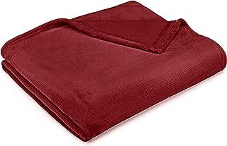 Pinzon Velvet Plush Blanket - Full or Queen, Burgundy
